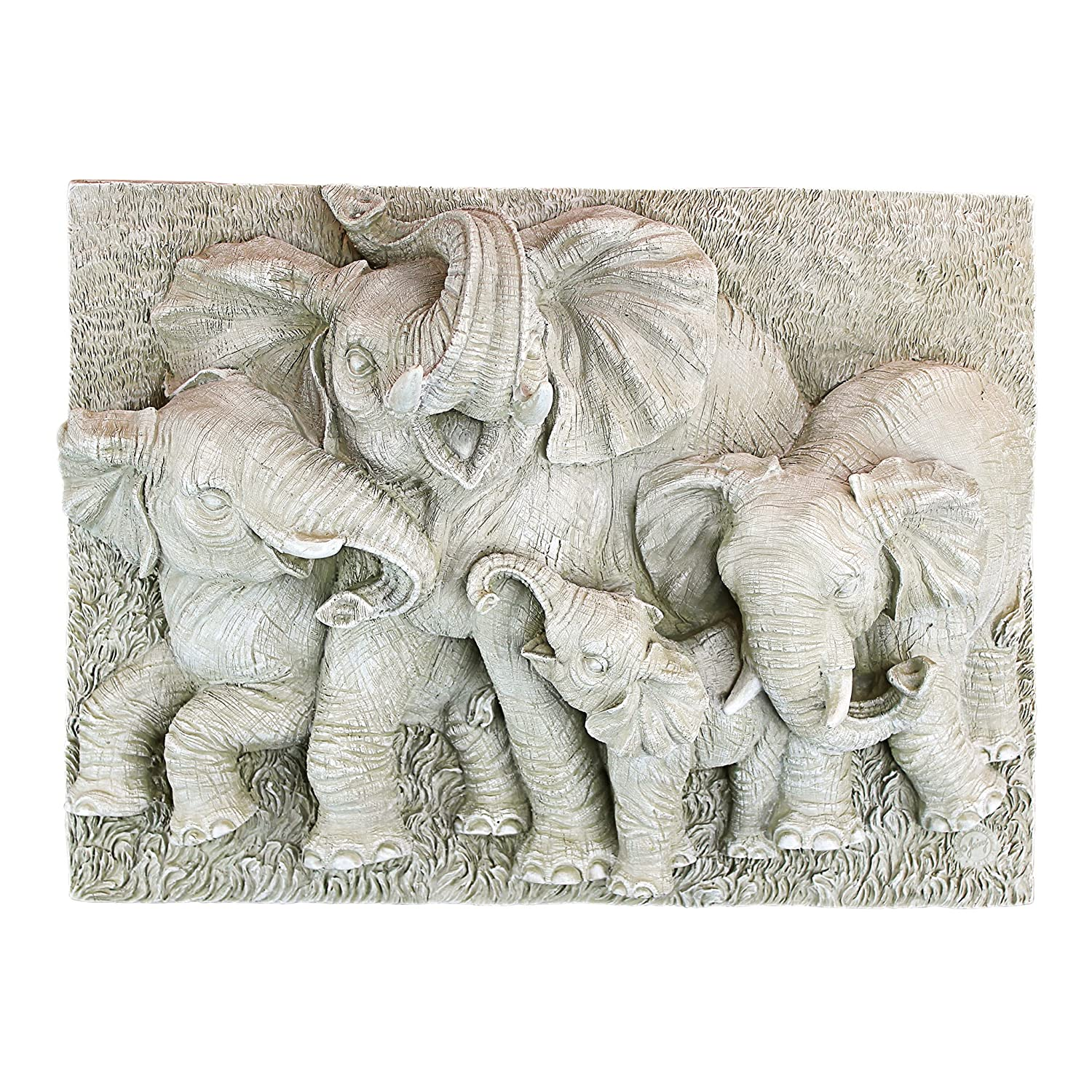 Design Toscano EU9326 Gentle Giants of the Namibia Wall Sculpture - Greystone