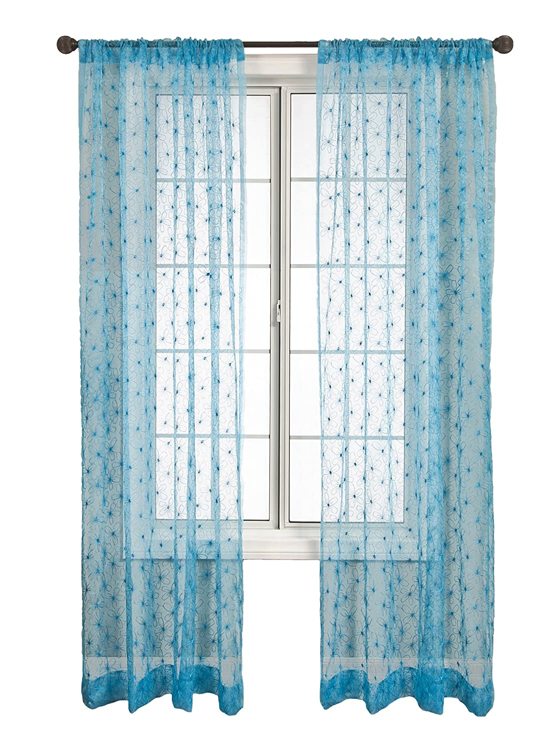 Diplomat Decor Kors 120-Inch Rod Pocket Panel, Blue FANBLU120RPP