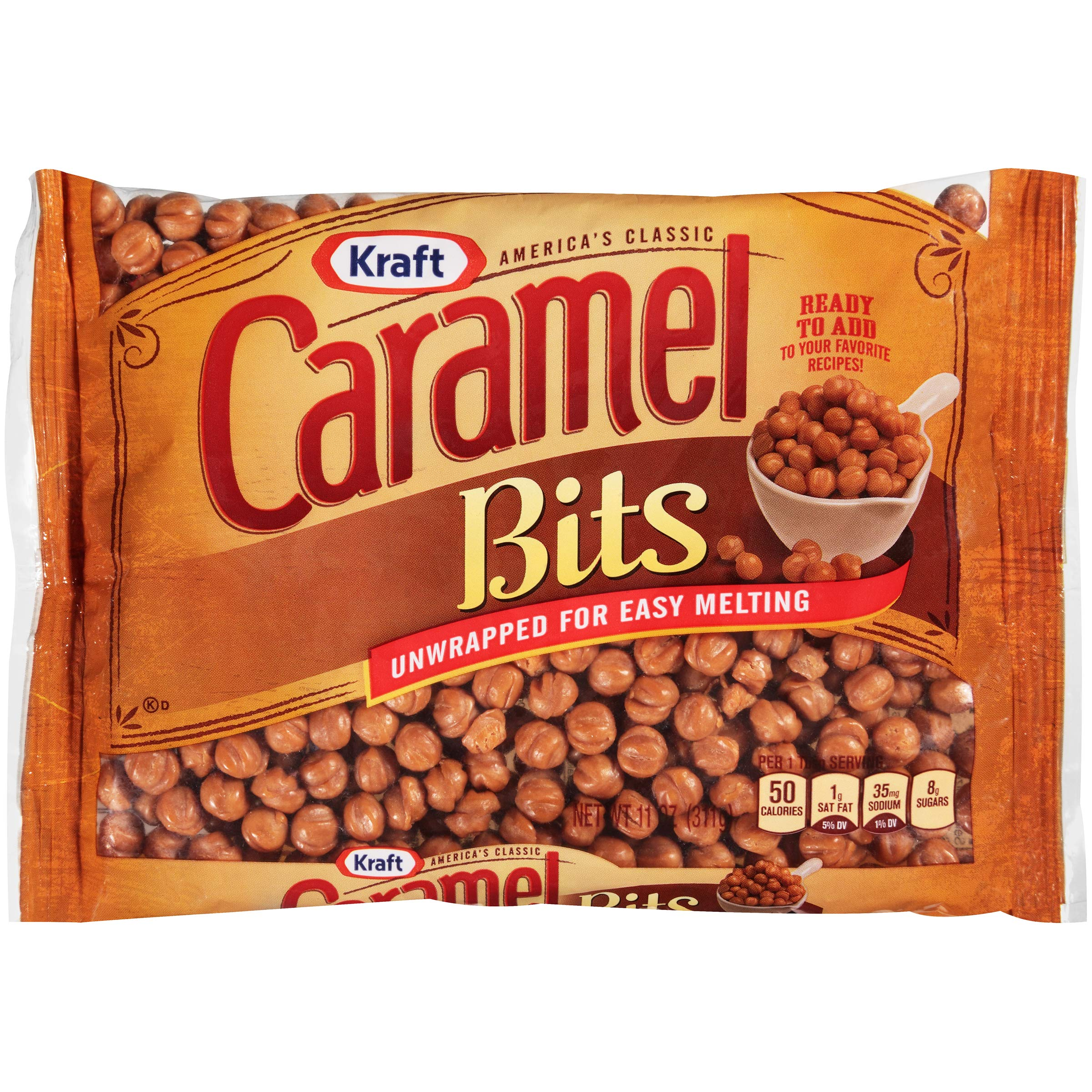 Kraft Caramel Candy Bits (11 oz Bags, Pack of 12)