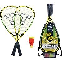 Talbot-Torro Speed-Badminton Set Speed 4000, 2 handige aluminium rackets 54,5 cm, 3 windstabile veerballen, in 3/4 zak…