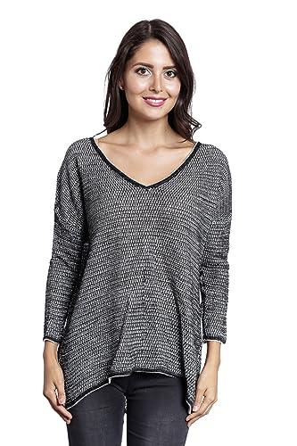 Abbino 5656 Camisa de manga larga para Mujer - Hecho en ITALIA - 2 Colores - Entretiempo Primavera V...