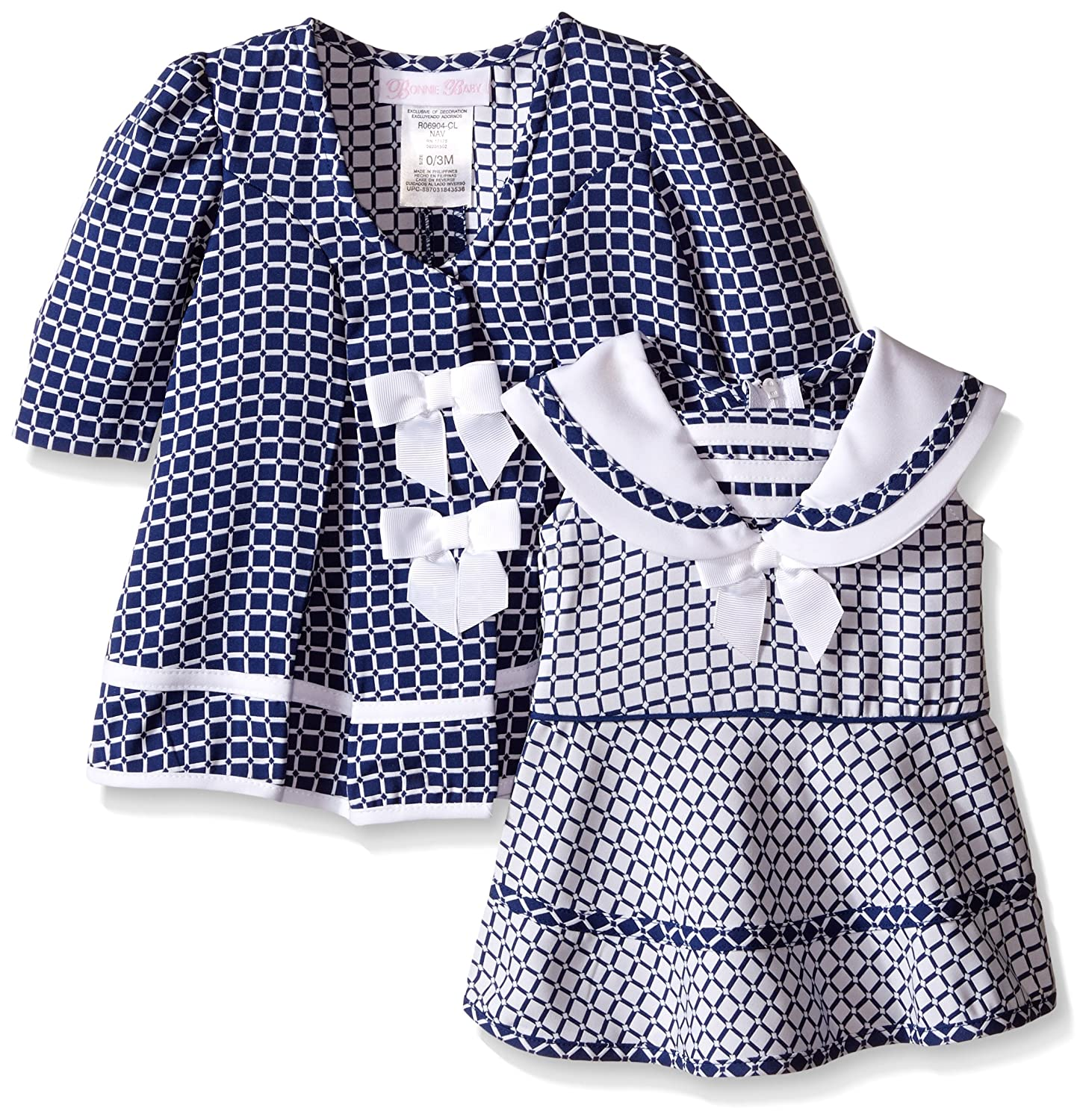 e28f88cbe Amazon.com: Bonnie Baby Baby Girls Dress and Coat Set: Clothing
