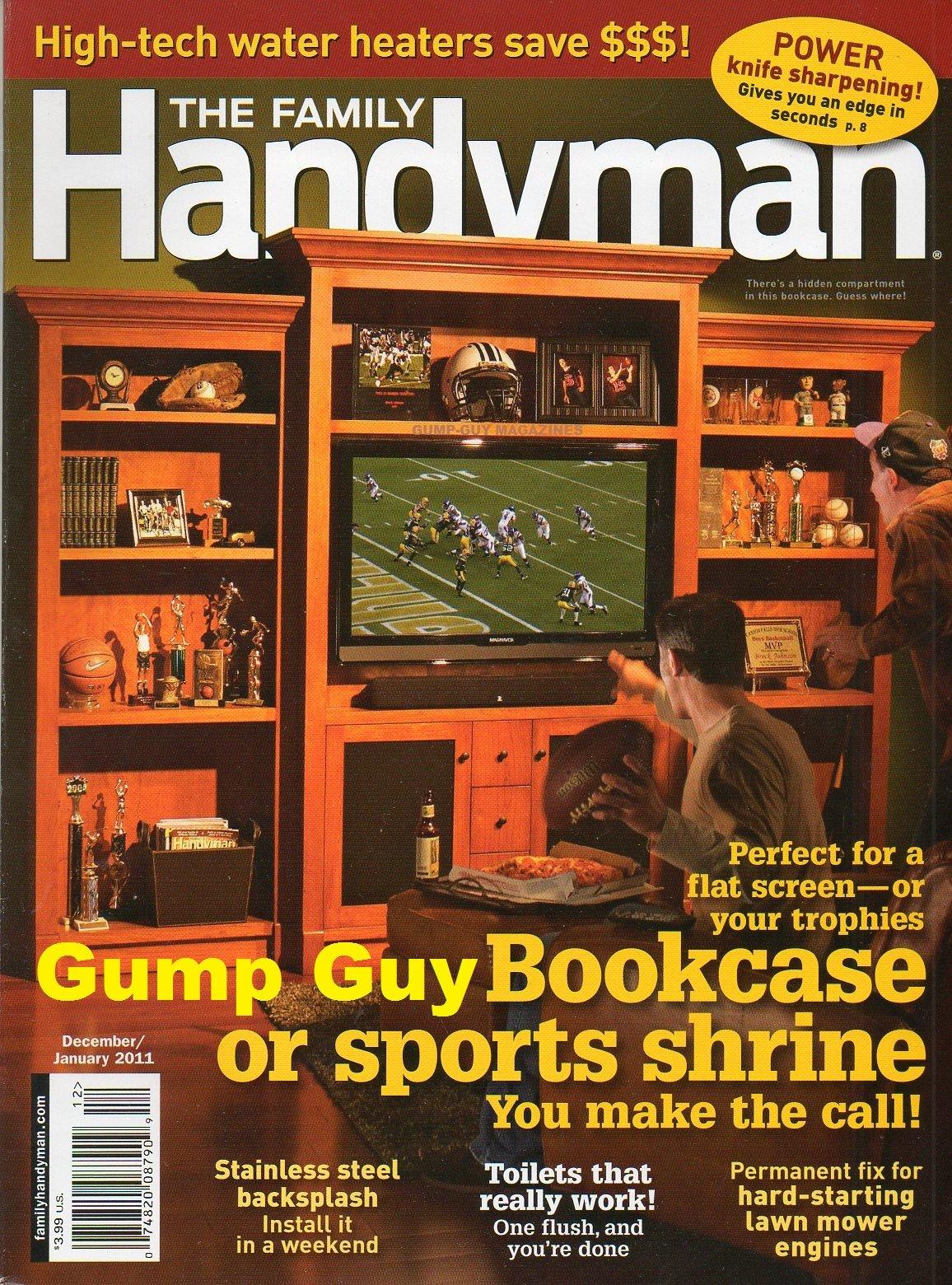 The Family Handyman Magazine December January 2011 Bookcase
