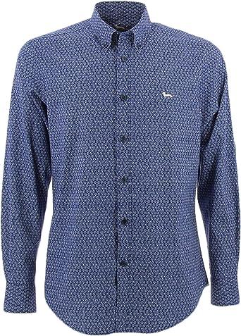 Harmont&Blaine Floral Camisa Azul azul XXL: Amazon.es: Ropa y ...