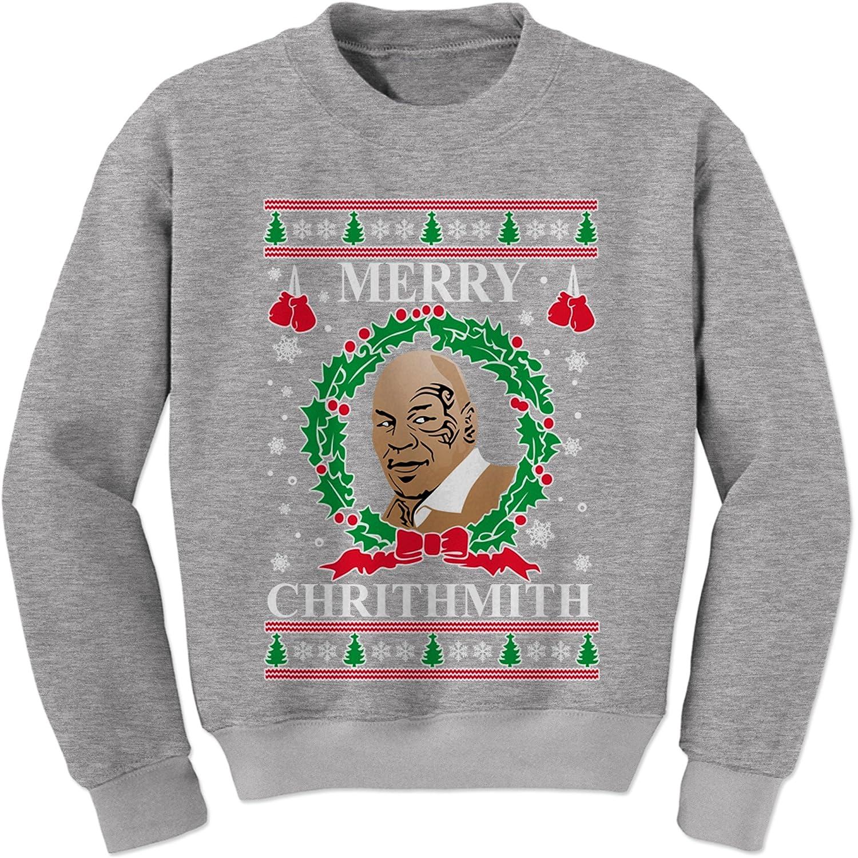 Expression Tees Merry Chrithmith Ugly Christmas Crewneck Sweatshirt