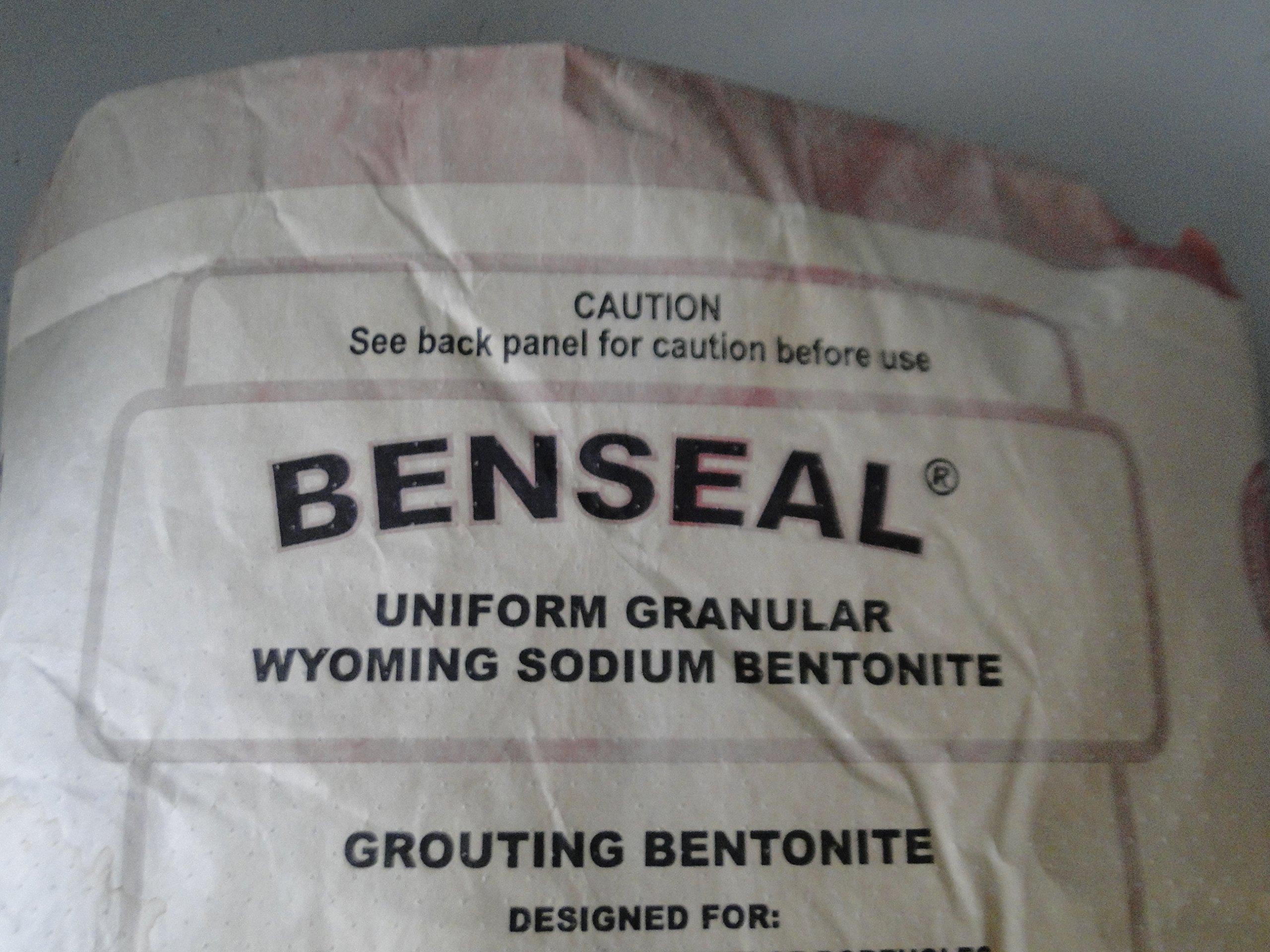 25 Pound Benseal Bentonite Drilling Mud Water Well Pond Foundation Seal Waterproof Baroid Grouting Wyoming Sodium Bentonite