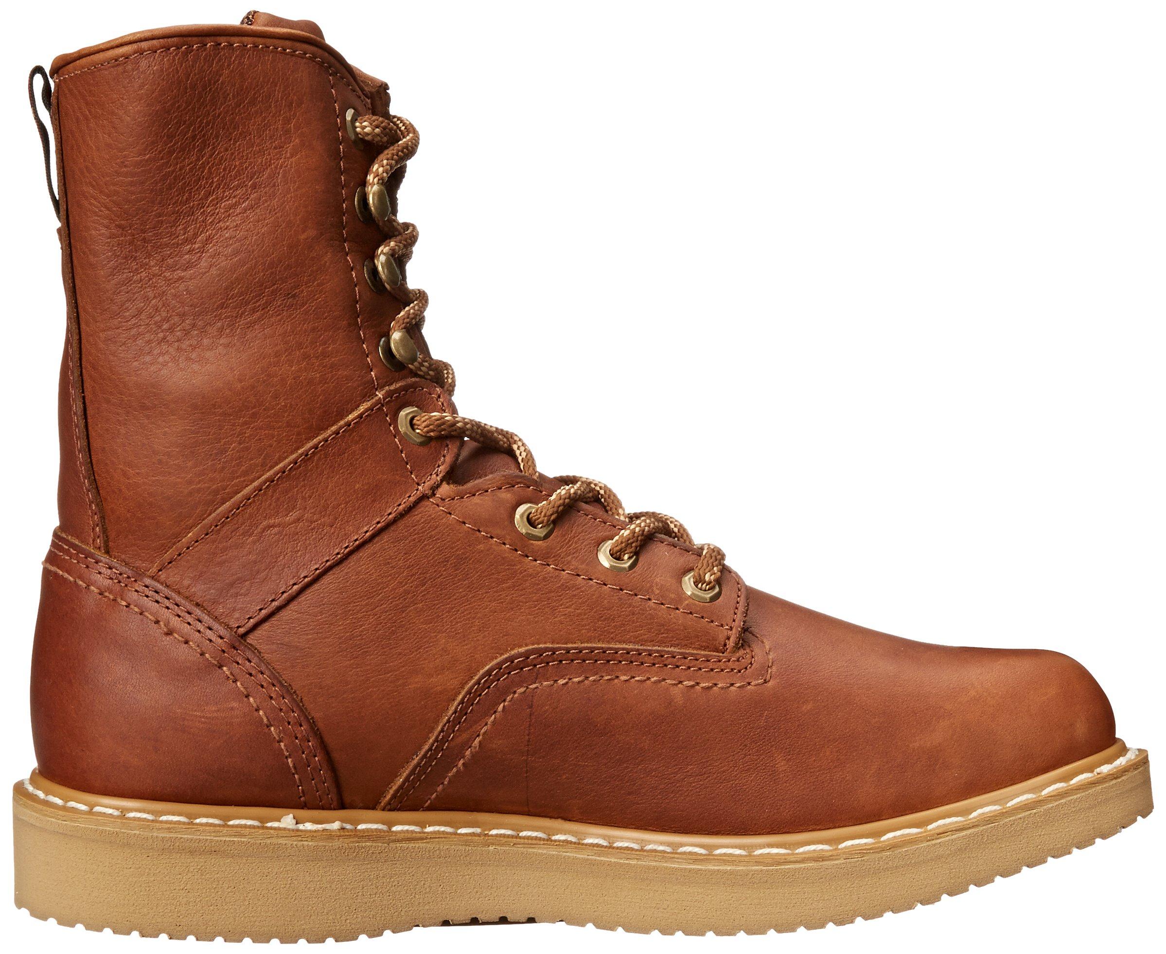 Georgia Boot Men's 8 Inch Wedge Work Shoe, Barracuda Gold, 12 W US by Georgia (Image #7)