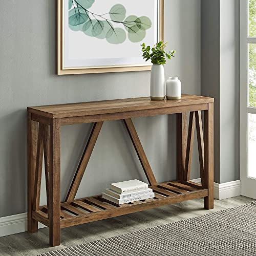 Home Accent Furnishings New 52 Inch Wide A-Frame Entry Table 52 Inch