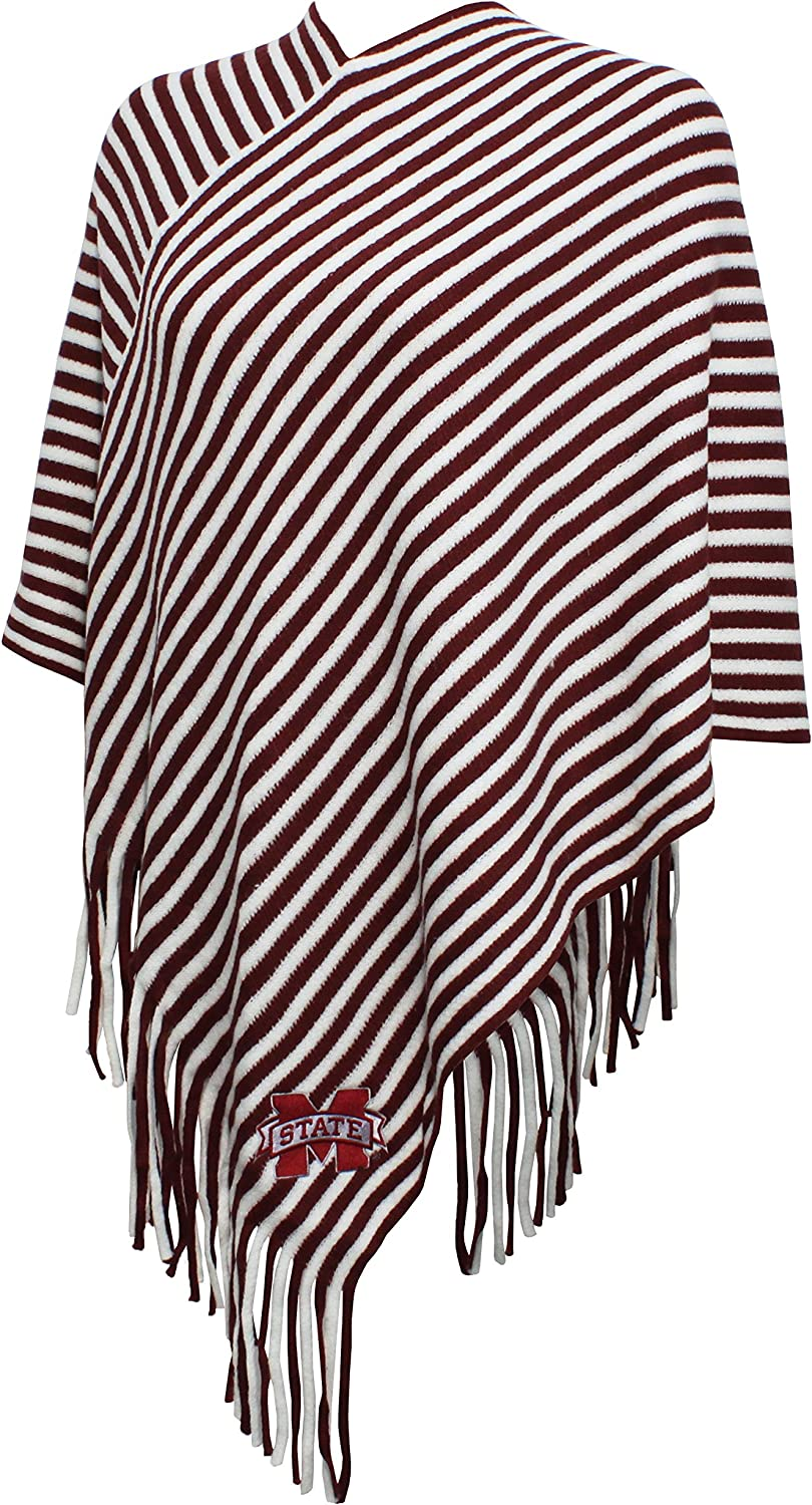 NCAA Womens Campus Specialties Striped Team Poncho