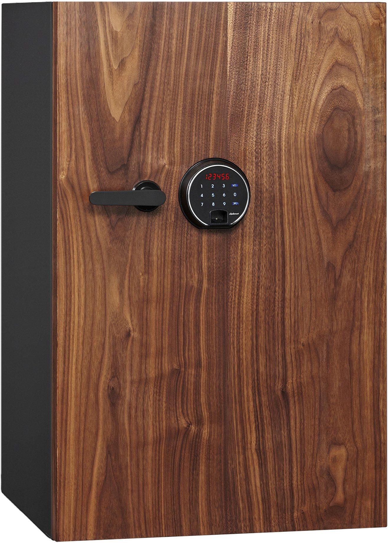 Phoenix DBAUM Fingerprint Lock Luxury Fireproof Safe with Walnut Door 3.0 cu ft