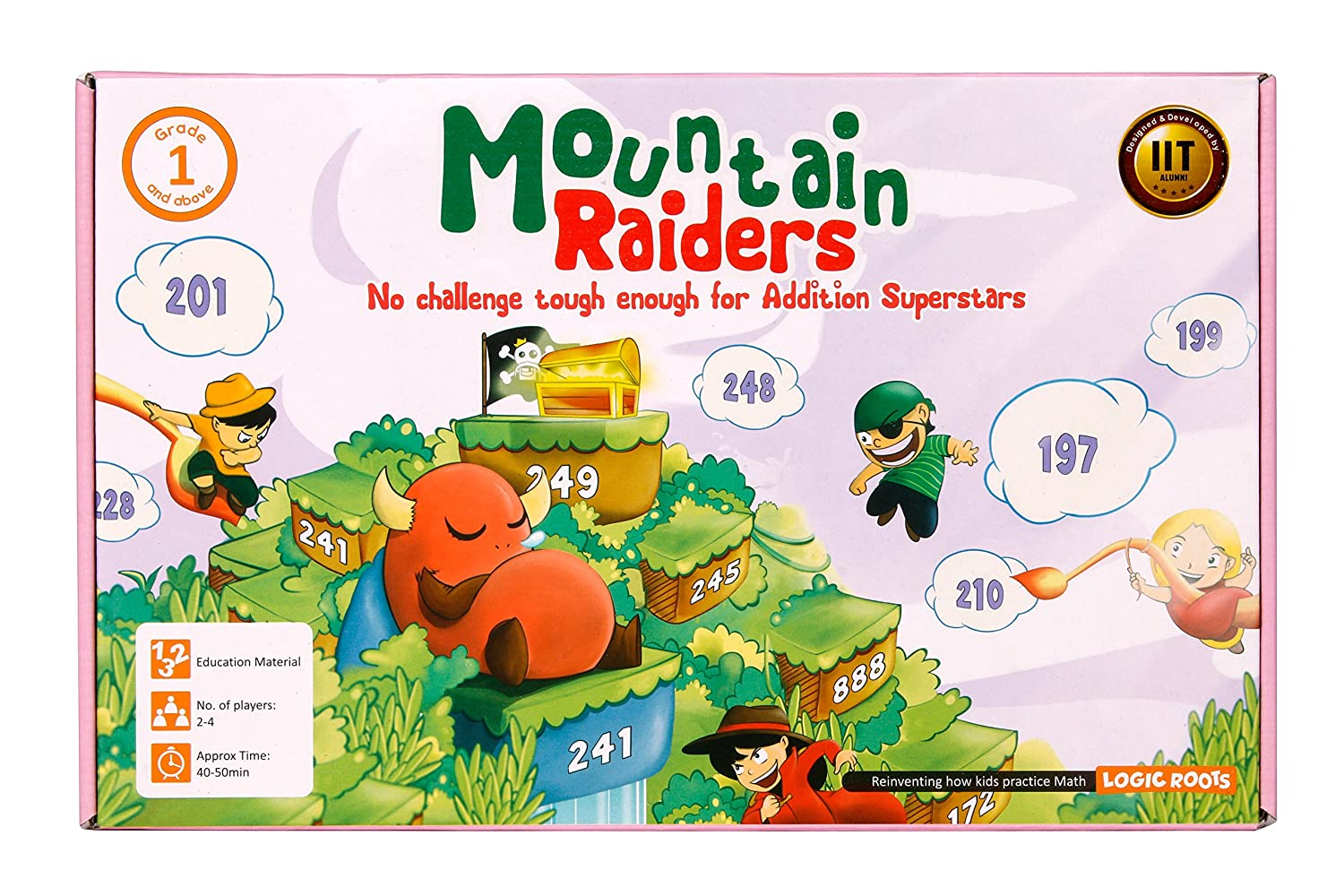 Amazon.com: Logic Roots Mountain Raiders Board Game with Addition of ...
