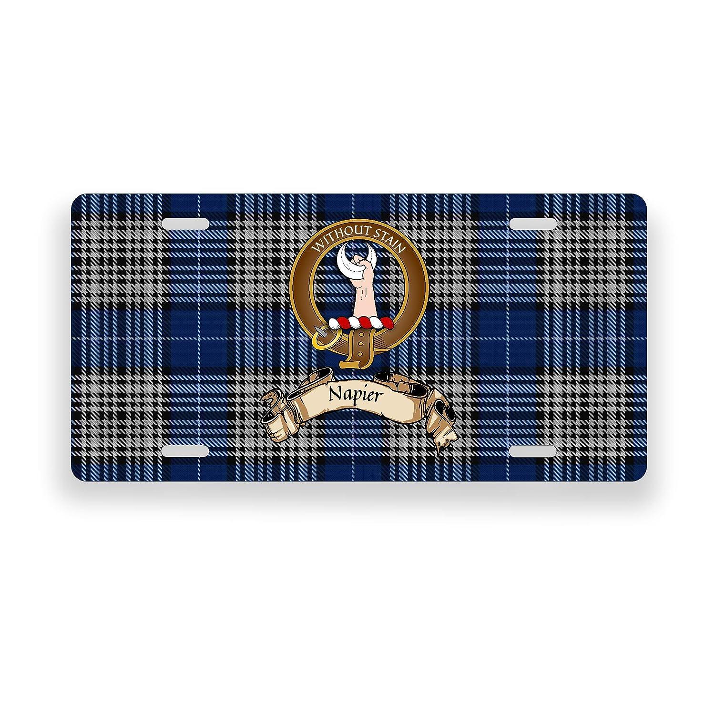 Napier Scotland Clan Tartan Novelty Auto Plate