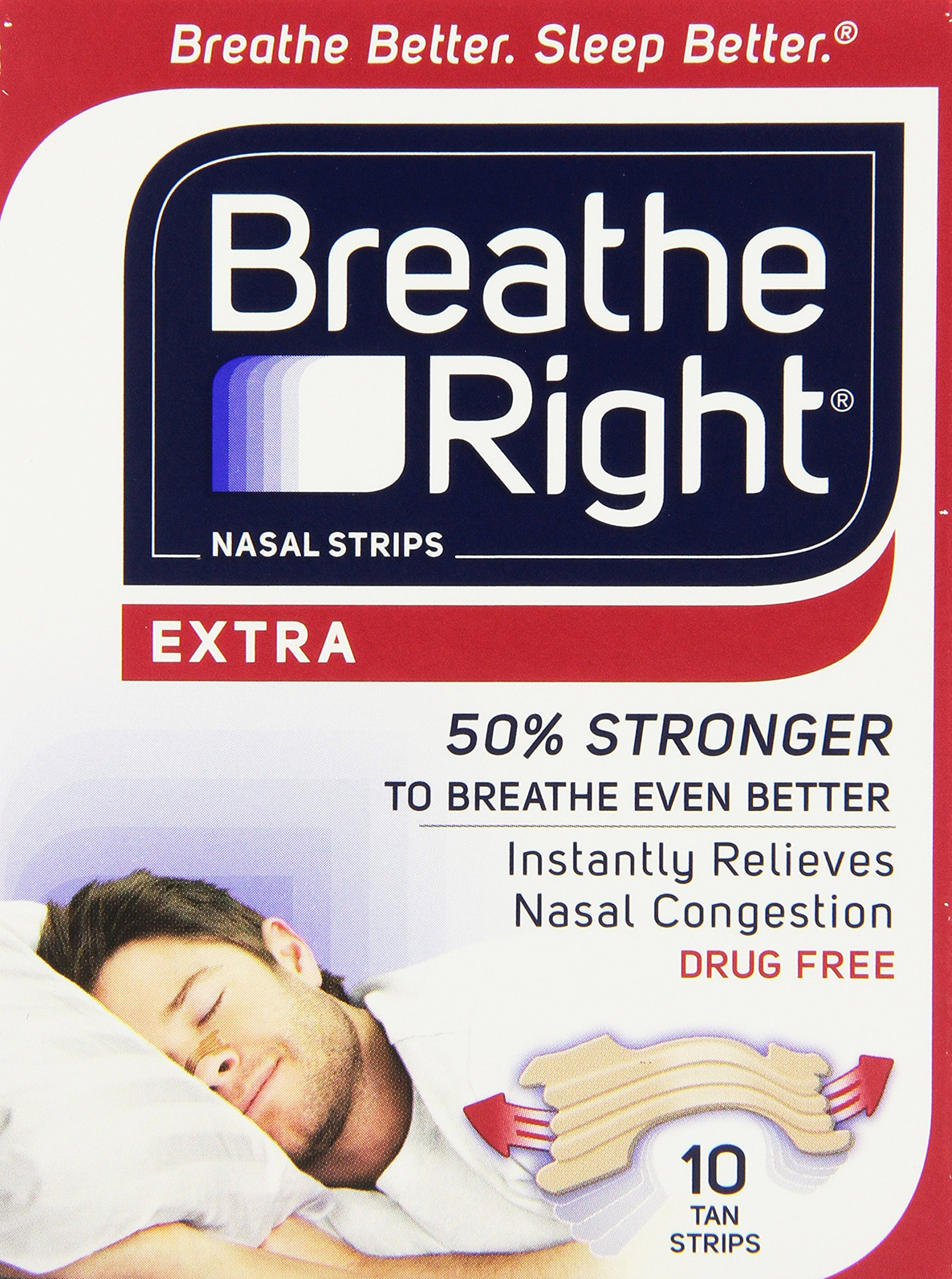 Breathe Right Extra, 10-Count (Pack of 24) by Breathe Right