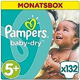 Pampers Baby Dry Windeln Gr. 5+  (13-25 kg), 1er Pack (1 x 132 Stück)