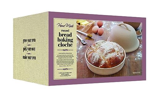 Kitchen Craft Home Made - Molde de campana redondo para hornear pan (gres): Amazon.es: Hogar