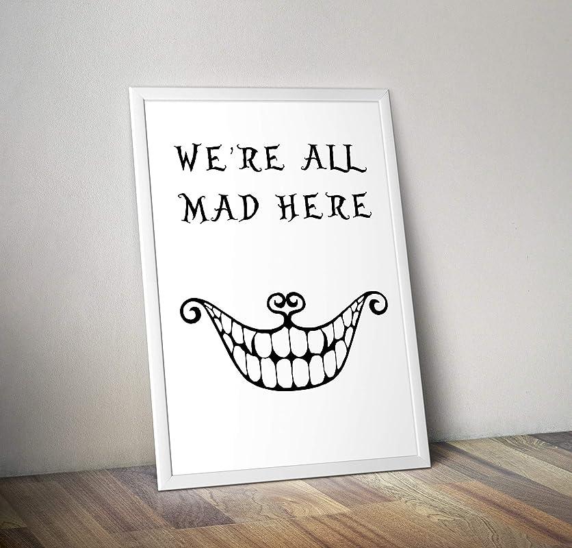 Zitat Alternative TV//Movie Prints in verschiedenen Gr/ö/ßen Alice im Wunderland inspirierte Aquarell Poster Rahmen nicht im Lieferumfang enthalten