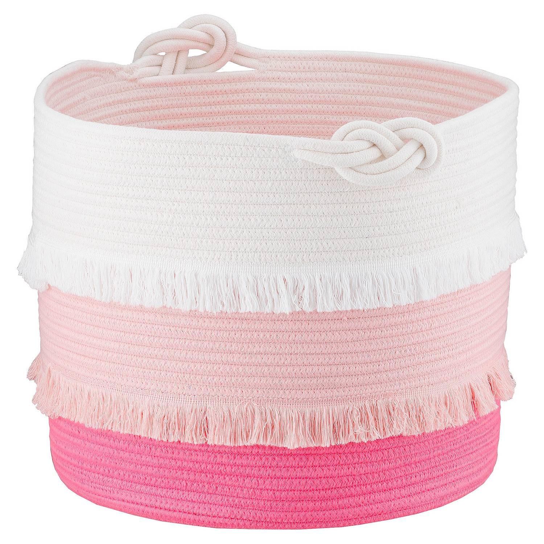 Coil Rope Basket (Large) Pink - Pillowfort