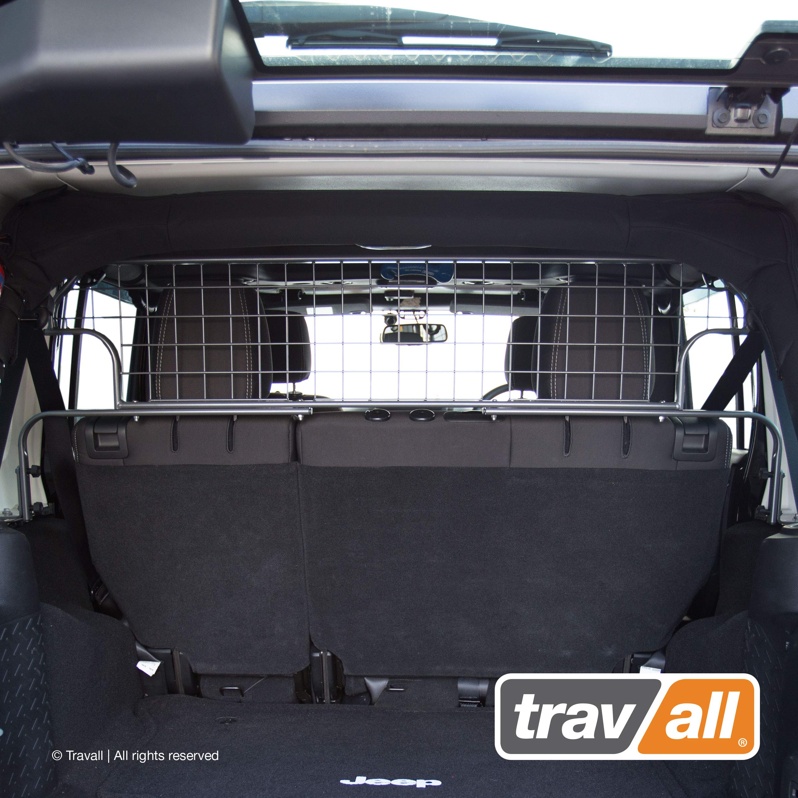 Travall Guard Compatible with Jeep Wrangler Unlimited (2006-2018) TDG1536 - Rattle-Free Steel Pet Barrier by Travall