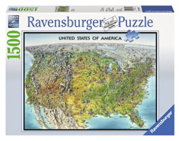Ravensburger USA Map Jigsaw Puzzle Piece Amazonca Toys - Usa map jigsaw puzzle