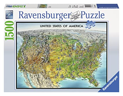 Buy Ravensburger USA Map Jigsaw Puzzle (1500-Piece) Online at Low ...