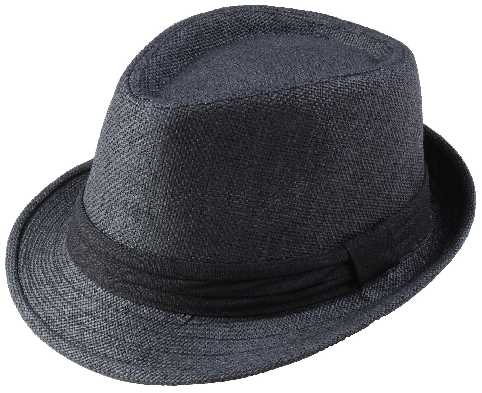 Classic Fedra Unisex Woven Hat Summer w/Stylish Band - A
