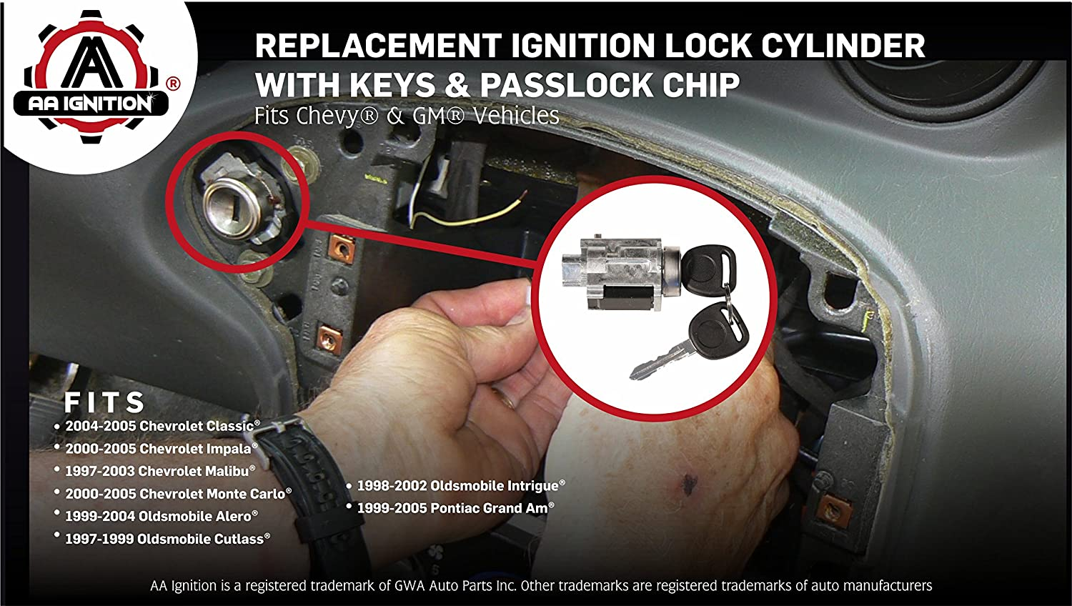 2003 Chevy Malibu Ignition Cylinder Impala Passlock Wiring Diagram Lock With Keys Chip Starter Switch Replaces Us Fits 1500x848