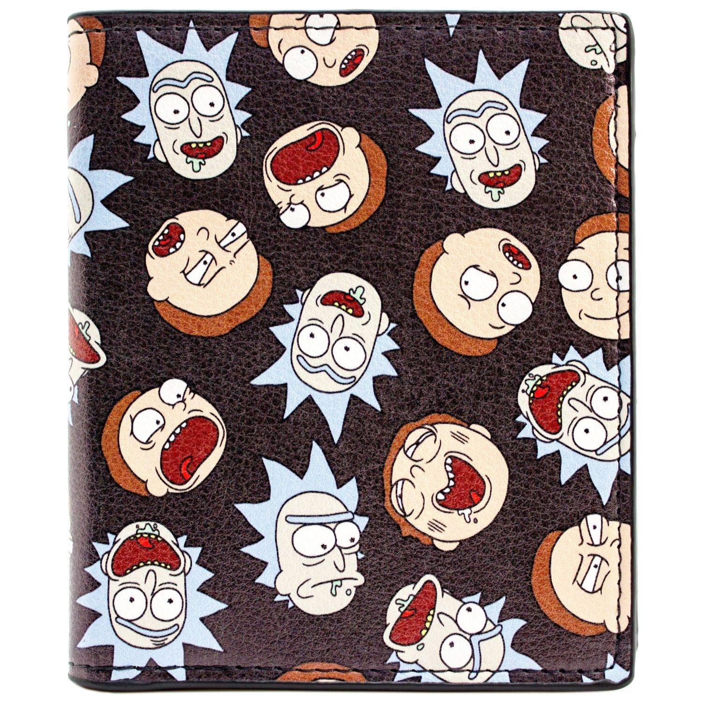 Rick and Morty Druck von Mimik Grau Portemonnaie Geldbörse 30332