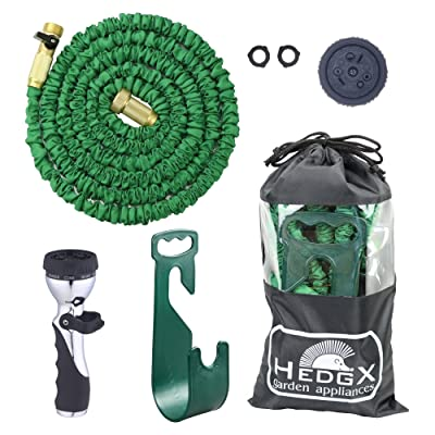HedgX Expandable Water Hose 50ft - Best Auto Expanding & Contracting, as Seen on TV