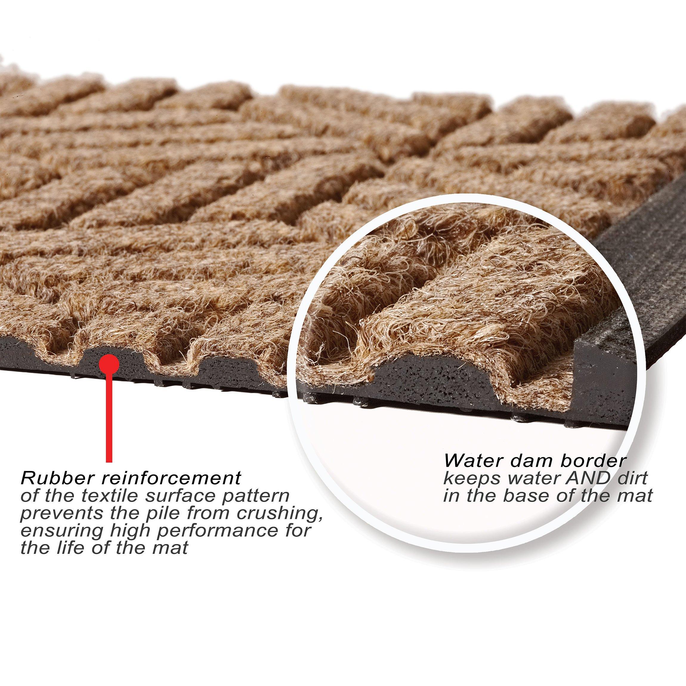 Bungalow Flooring Waterhog Indoor/Outdoor Doormat, 3' x 5', Skid Resistant, Easy to Clean, Catches Water and Debris, Boxwood Collection, Bluestone by Bungalow Flooring (Image #7)