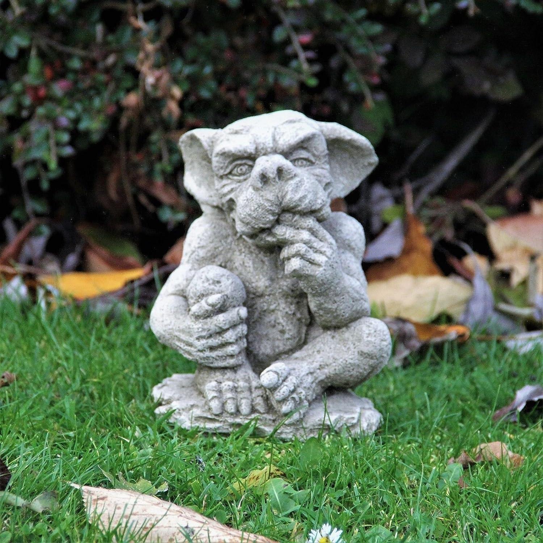 Sesión Ghotic una Gárgola Estatua piedra adorno de jardín fundido dragón decoración regalo: Amazon.es: Jardín
