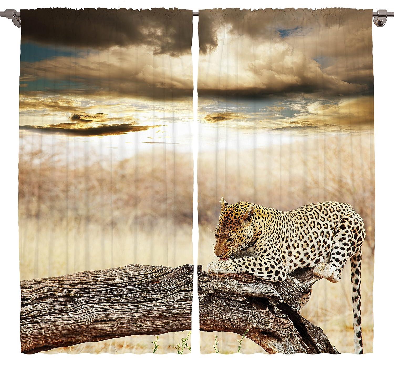 Jaguar Print Curtains Leopard Patch Animal