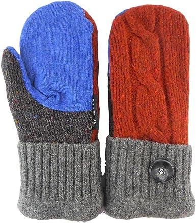 Free Shipping Wool and Fleece Handmade Mittens