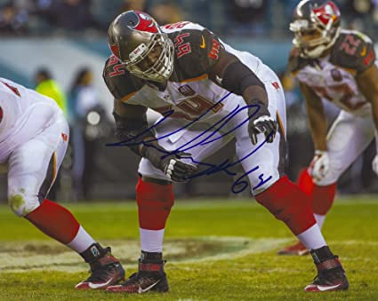 low cost 72472 88bb2 Autographed Kevin Pamphile 8x10 Tampa Bay Buccaneers Photo ...