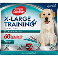 Simple Solution Training Puppy Pads | Extra Large, 6 Layer Dog Pee Pads, Absorbs Up to 7 Cups of…