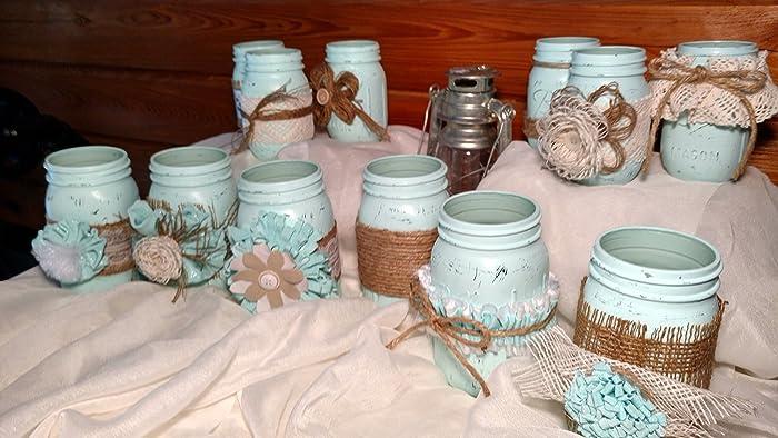 Amazon 12 Piece Rustic Shabby Chic Mason Jars Rustic Wedding
