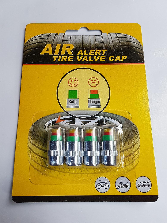4 coprivalvole per misurazione pressione pneumatici auto, per una pressione di gonfiaggio pari a 2,2 bar, antipolvere 2bar Result