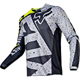 Fox Racing 180 Nirv Men's Off-Road Motorcycle Jerseys - Grey/Yellow