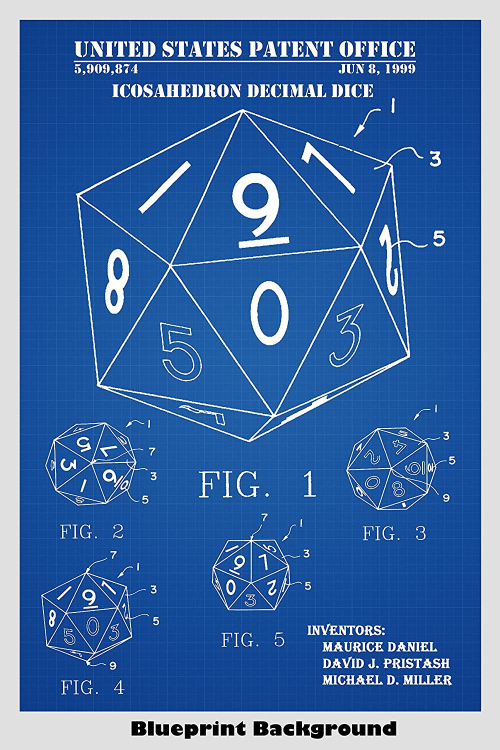 Amazon.com: D20 Icosahedron Decimal Dice For Role Playing Game ...