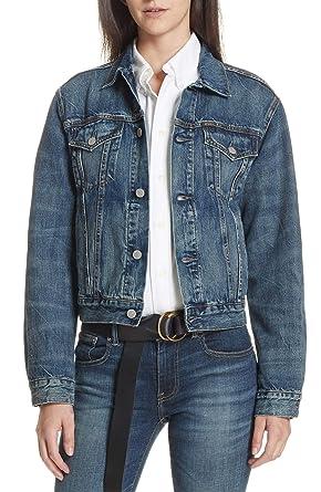 500d982c5 Image Unavailable. Image not available for. Color  Polo Ralph Lauren USA  Flag Trucker Denim Jacket ...