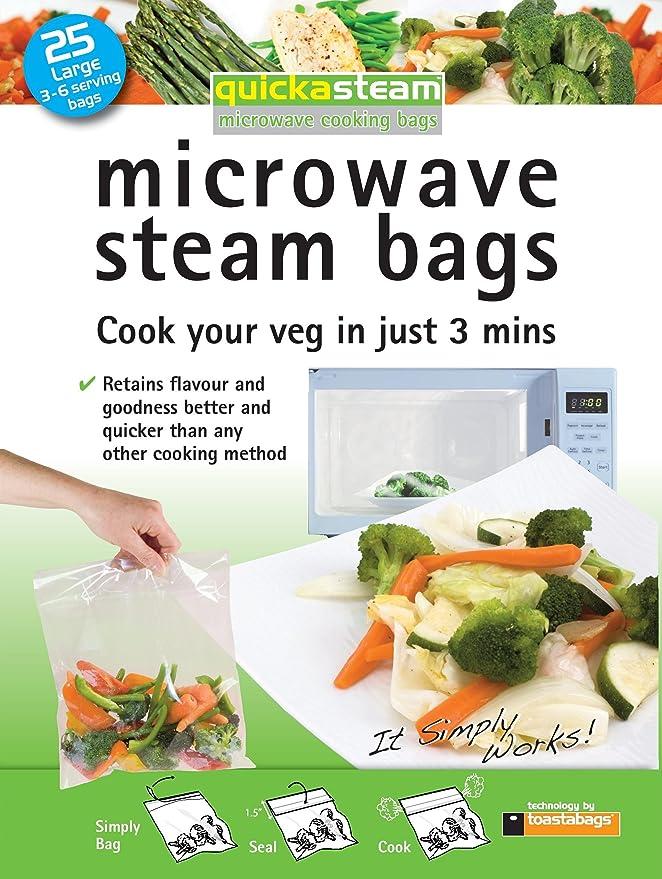 Amazon.com: 25-pack grande quickasteam bolsas para más ...