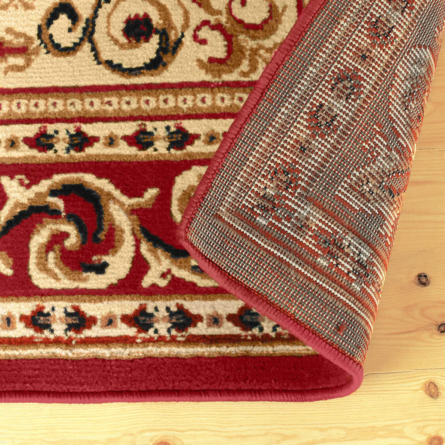 Oriental Rug Design with Detailed Border Attractive Rug with Jute Backing Multi-Colored Designer Durable and Beautiful Woven Structure Superior Longfield Collection 27 x 8 Runner Rug