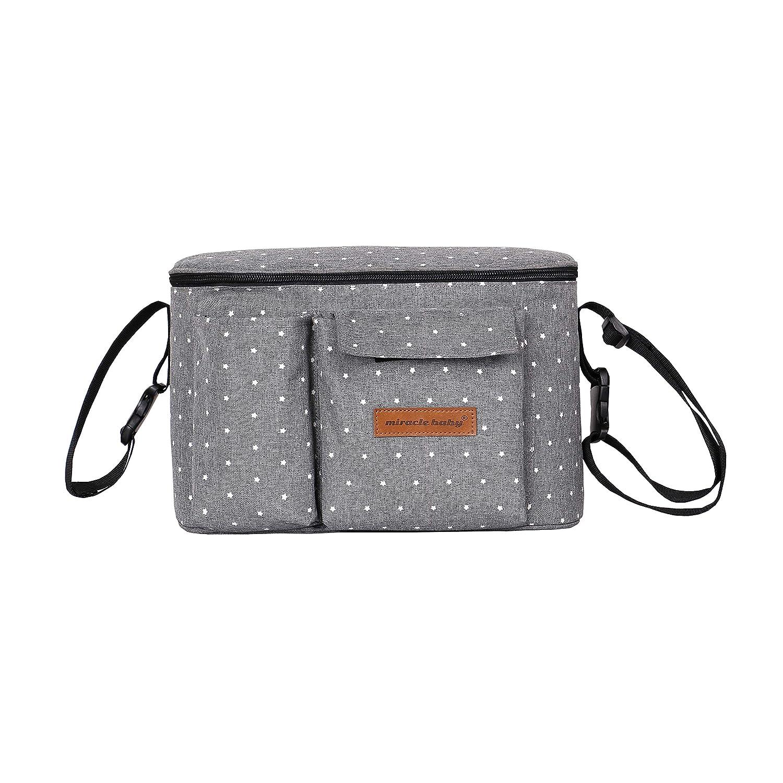 Azul Bolsa de pa/ñales para beb/é con mochila port/átil para pa/ñales de gran capacidad para carrito Suspension Mommy Backpack