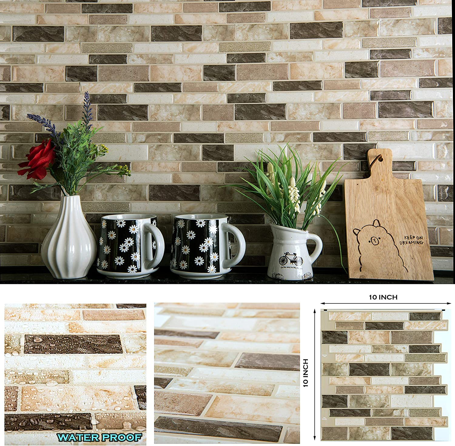 - Amazon.com: STIQUICK TILES Peel And Stick Backsplash - For Kitchen