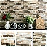 "STIQUICK TILES Peel and Stick Backsplash - for Kitchen Decorative Tiles (10 Sheets) (10"" X 10"" 10 Sheets, Polito Bella)"