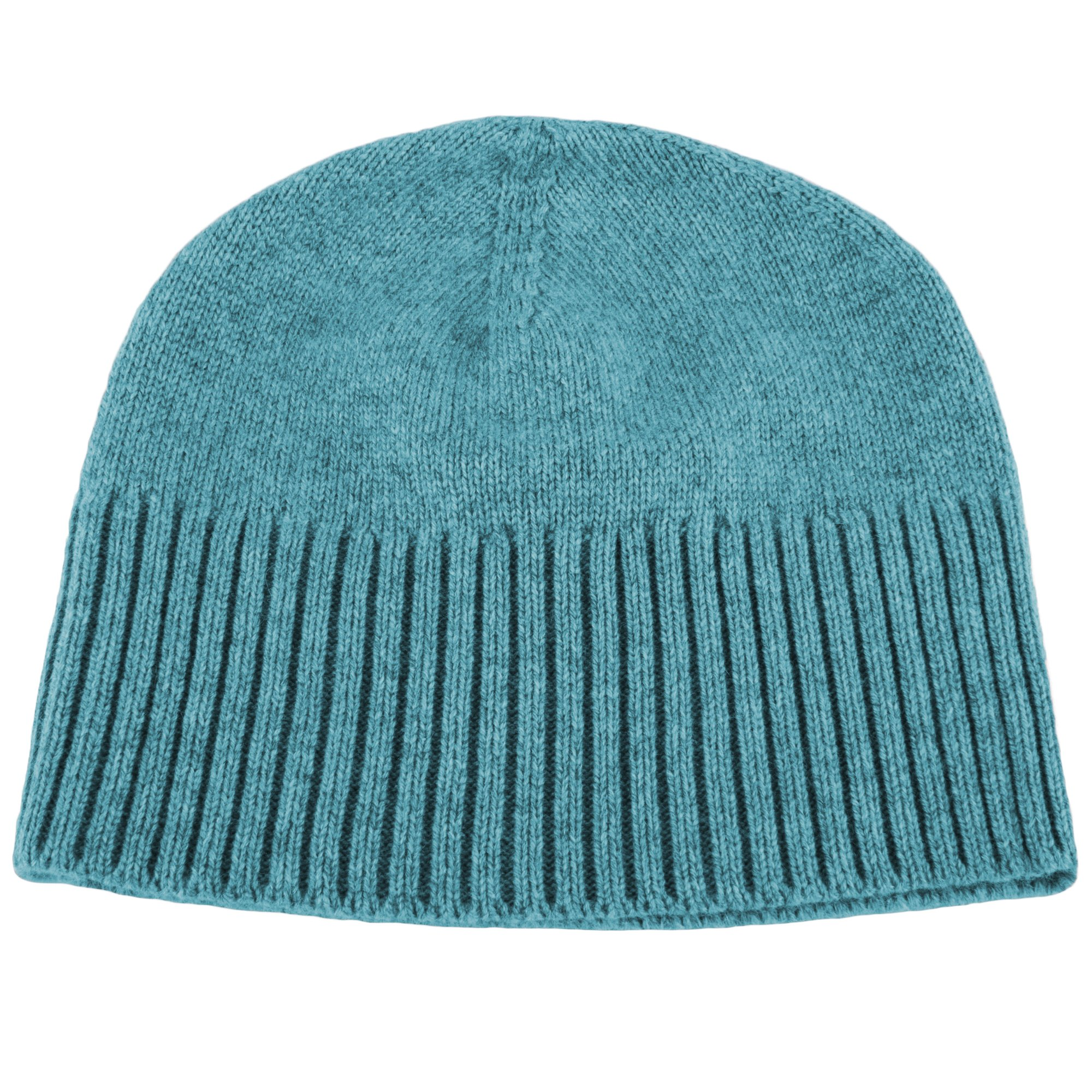 Love Cashmere Women's 100% Cashmere Ski Beanie Hat - Sky Blue - Handmade in Scotland by RRP 130