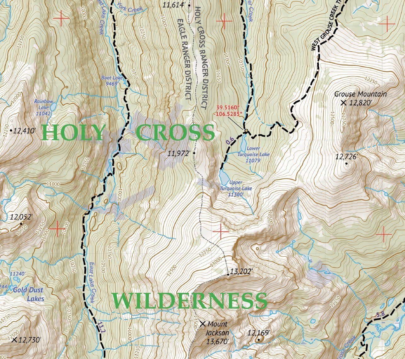 Holy Cross Wilderness - Colorado Topographic Hiking Map (2018 ...