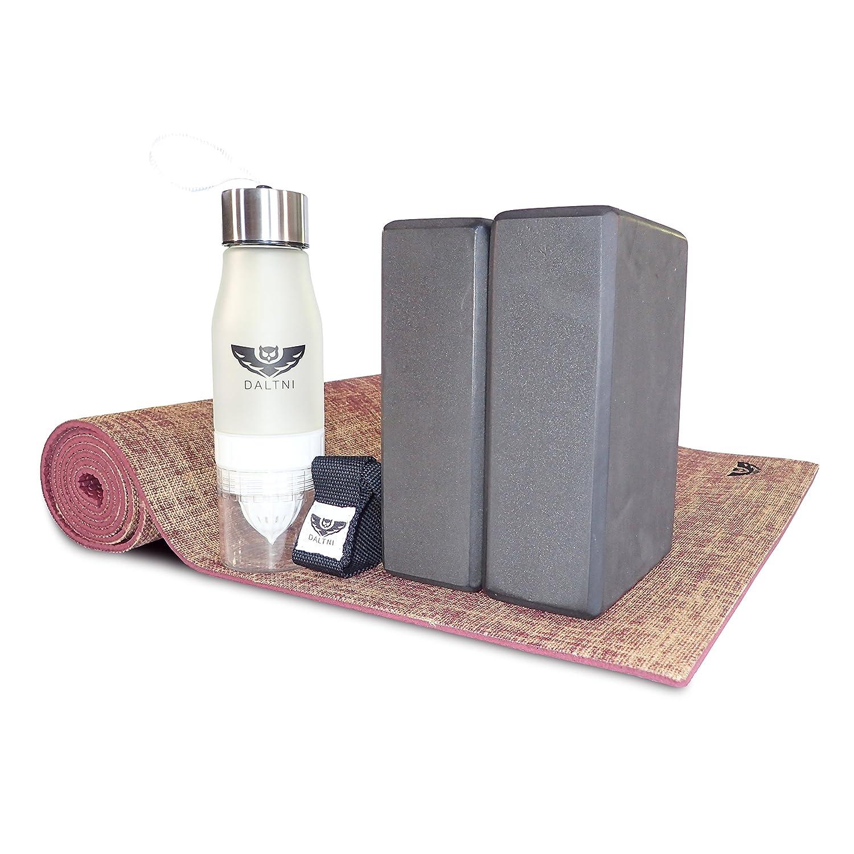 Yoga Bundle de 5 piezas con yute PVC antideslizante plum ...