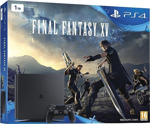 PlayStation 4 Slim (PS4) 1TB - Consola + Final Fantasy XV: Amazon ...