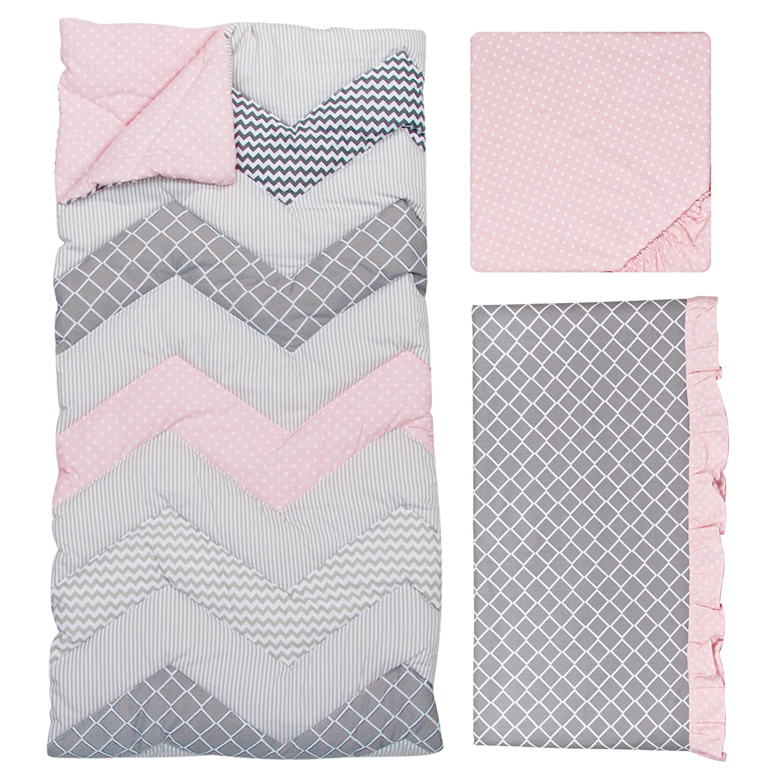 Cotton Candy Trend Lab Chevron 3 Piece Crib Bedding Set