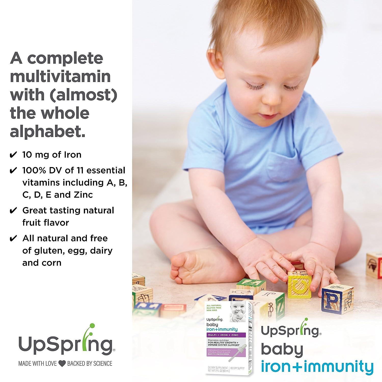 Amazon Com Upspring Baby Multivitamin Plus Iron Liquid Drops For